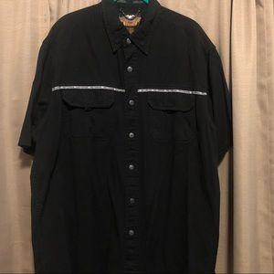 Harley Davidson snap button shirt L